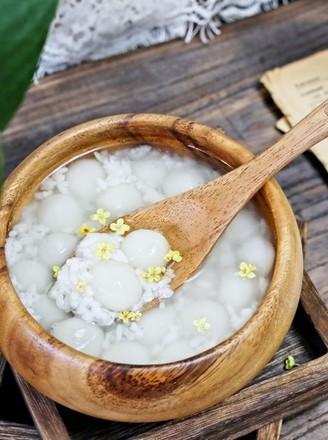 桂花米酒小圆子的做法
