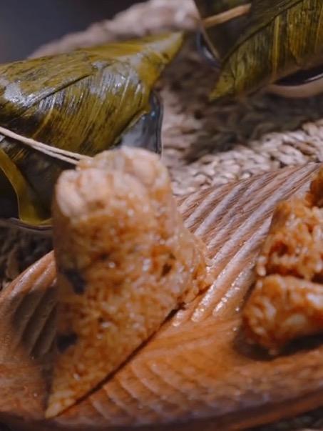 咸蛋黄香菇牛肉粽