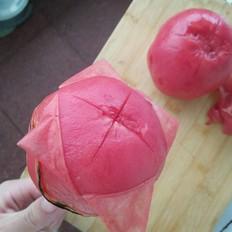 最快捷的西红柿去皮法