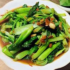 豆瓣酱炒油菜