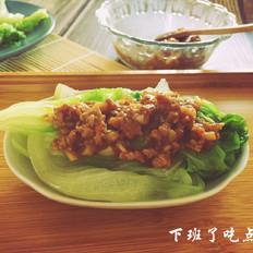 蒜蓉肉沫生菜