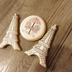 糖霜饼干 铁塔手绘