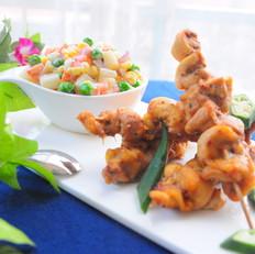 黑椒烤鸡串