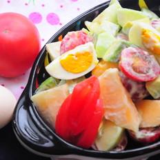 番茄鸡蛋水果沙拉