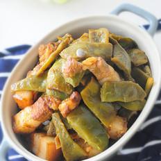 五花肉焖油豆角