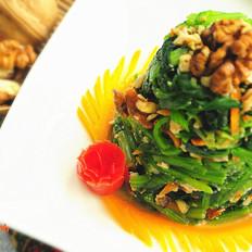 开胃凉拌菜,吃出好胃口-核桃菠菜塔