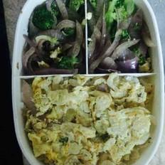 虾米西兰花洋葱减脂餐