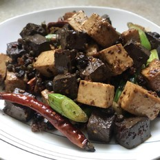 三椒鸭血豆腐