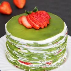抹茶草莓千层蛋糕