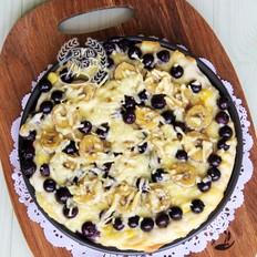 香蕉蓝莓比萨