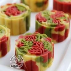 炫目的五彩斑斓绿豆糕