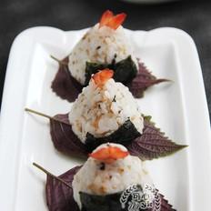 充满童趣的紫菜虾包饭