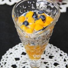 芒果蓝莓西米露