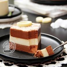 丝质顺滑的黑白巧克力慕斯蛋糕的做法