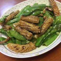 鱿鱼炒荷兰豆