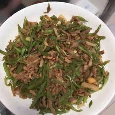 扁豆角炒肉丝