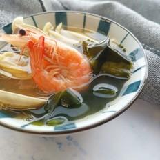 裙带菜海鲜豆腐汤