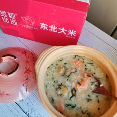 寒冷冬日里那一碗暖心暖胃的鲜虾鲍鱼粥