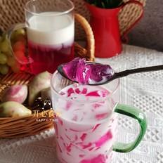 低脂美味零负担满满花青素的仙人掌果撞奶的做法