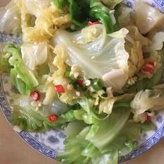 凉拌圆白菜的做法