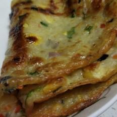 鲫鱼汤米饭蔬菜饼
