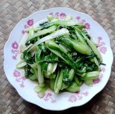 炝炒小白菜的做法