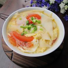 番茄蛋花面片汤