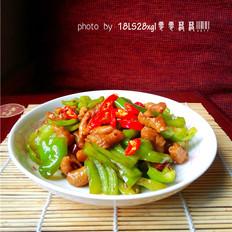青椒爆肥肠