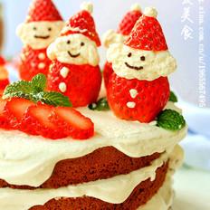 雪景圣诞老人蛋糕
