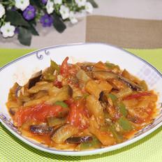 西红柿青椒烧茄子