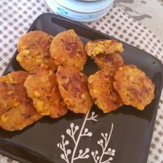 胡萝卜玉米鸡肉饼