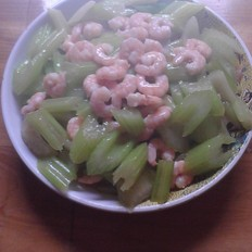 芹菜炒河虾