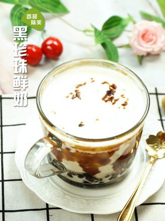 黑糖珍珠鲜奶的做法