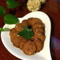 花生酱燕麦饼干