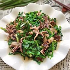 韭菜炒笔管鱼