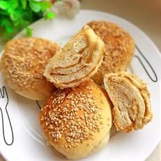 花生酱千层酥饼