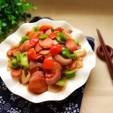 彩椒炒红肠