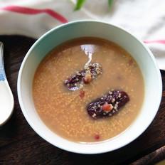 红豆红枣小米粥
