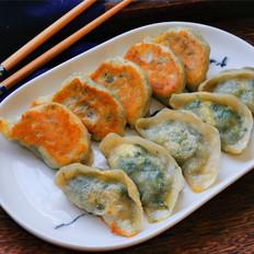 荠菜鸡蛋煎饺,花钱少实惠又好吃