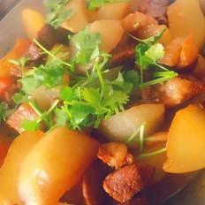 白萝卜烧肉
