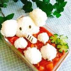 番茄咖喱牛肉饭