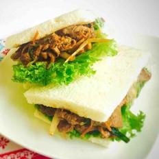 肉食主义--韩式烤牛肉三明治