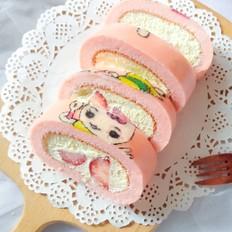 彩绘小白兔蛋糕卷