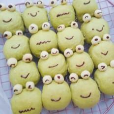 可爱的小青蛙挤挤面包