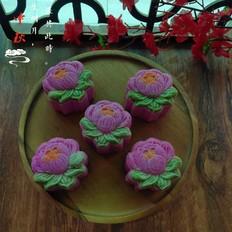 火龙果山药紫薯月饼