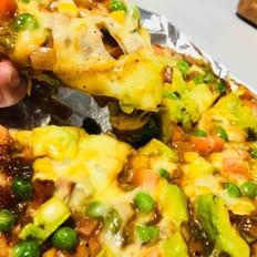 牛油果培根火腿披萨