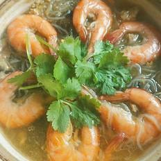 鲜虾香菇粉丝煲