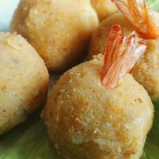 土豆芝士虾球