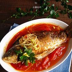 酸辣番茄燜鯽魚