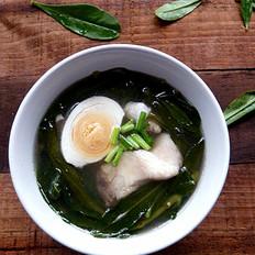 咸蛋鱼骨参叶汤
